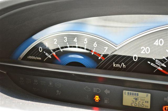 Toyota Etios Liva central instrument cluster