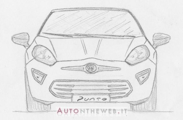 next gen Fiat Punto hand sketch front