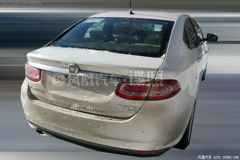 2014 Fiat Viaggio facelift rear view