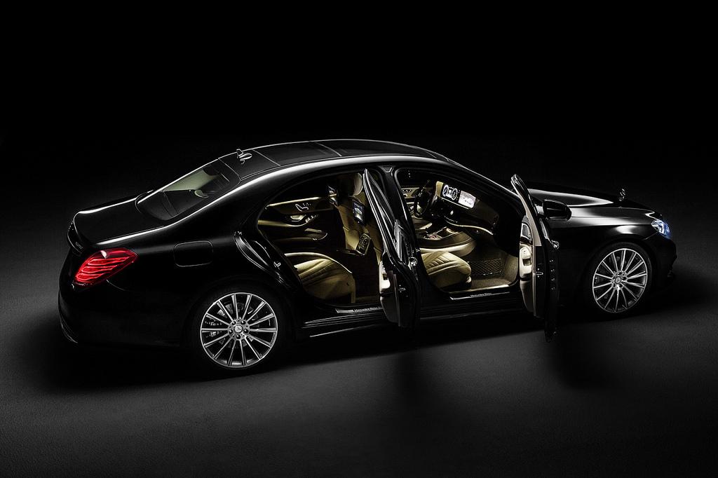 2014 Mercedes S Class in the dark