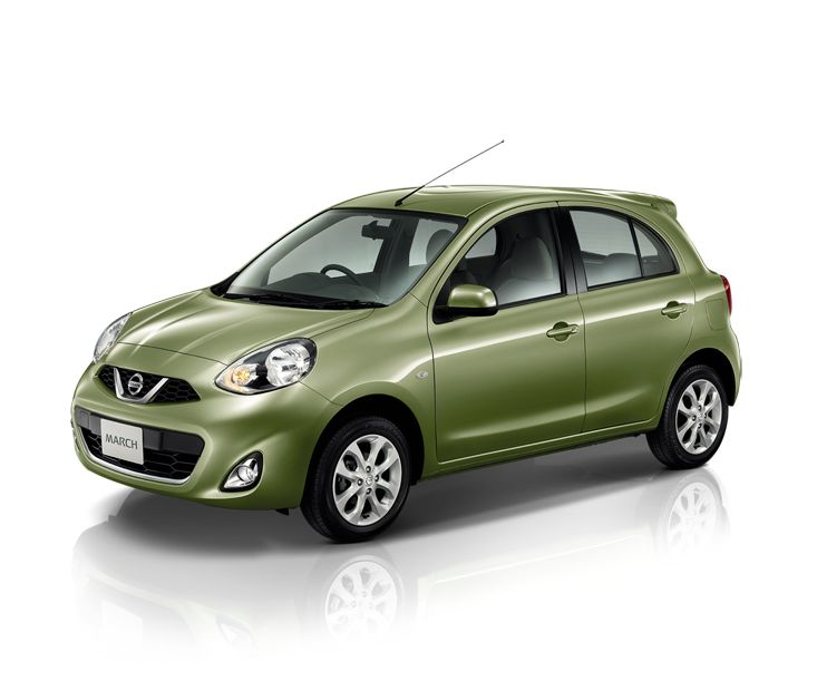 2014-Nissan-Micra-facelift-Thailand-Olive-Green-color