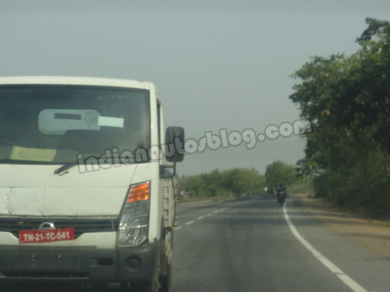 Ashok Leyland Partner spied Chennai  headlight
