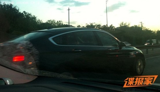 BMW 5 Series GT facelift spied side