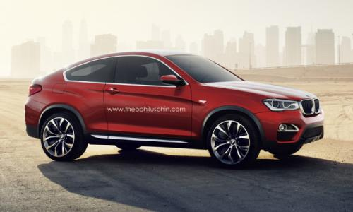 BMW X4 two door Coupe front