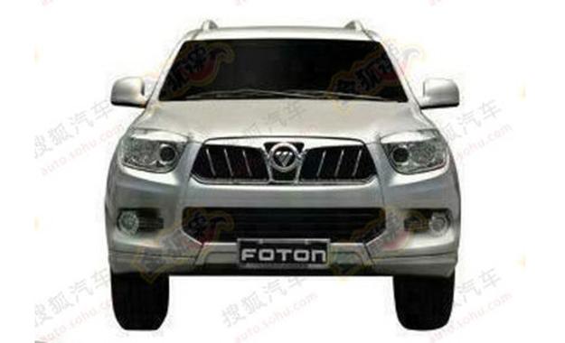 Foton U201 SUV patent leak front