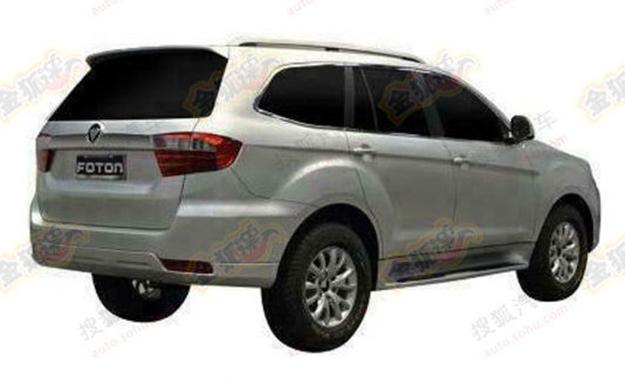 Foton U201 SUV patent leak rear three quarter