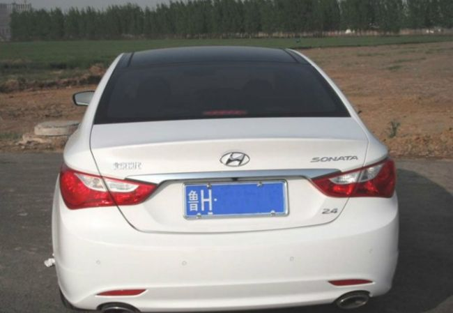 Hyundai Sonata facelift korea spy tail light