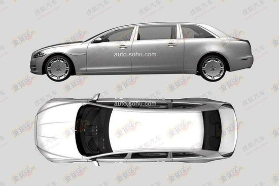 Jaguar XJ limousine in China