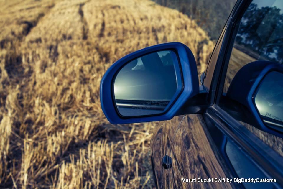 Maruti Swift rear view mirror customized BigDaddy