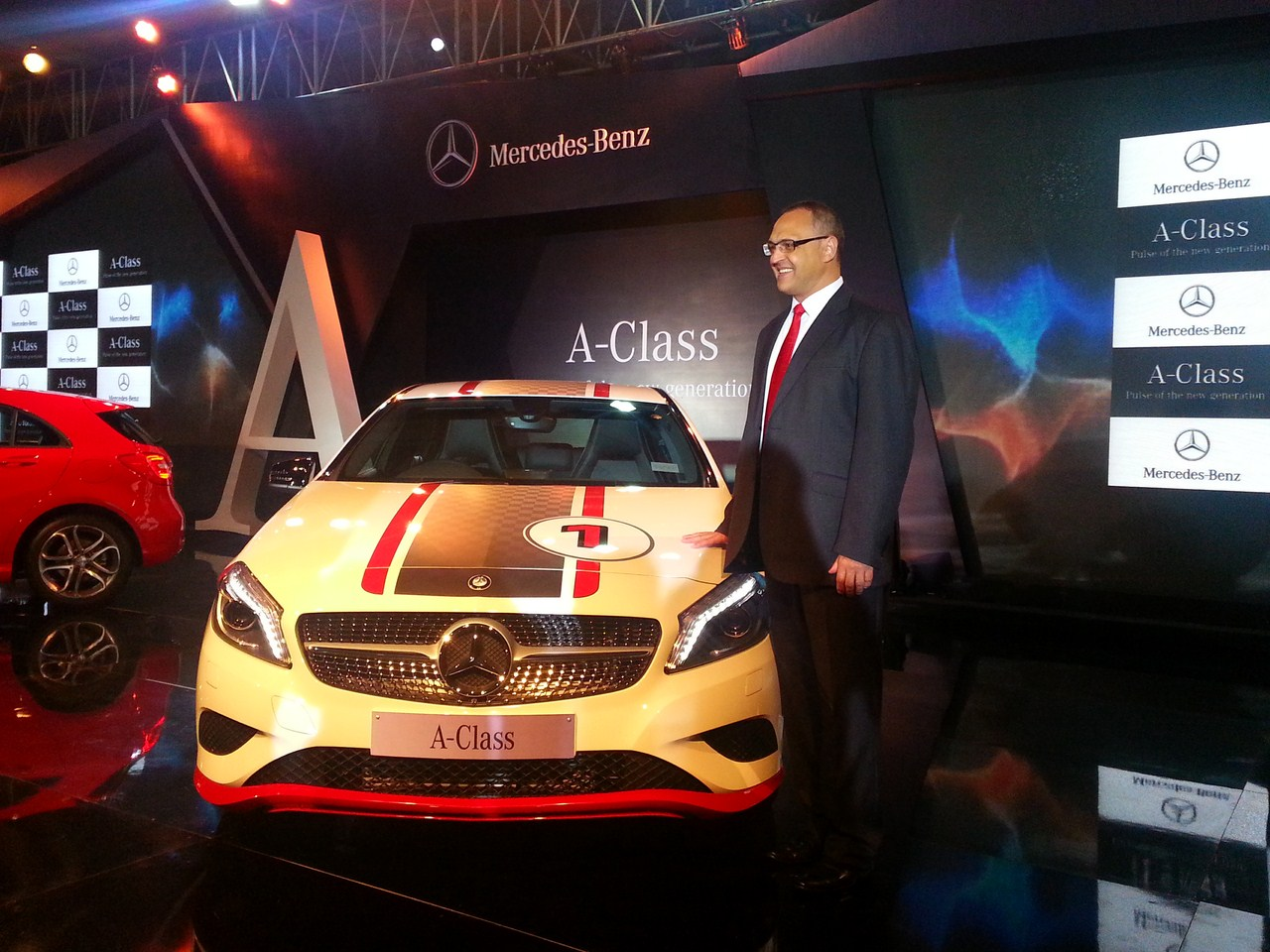 Mercedes A Class launch India White