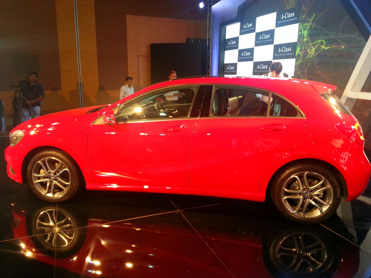 Mercedes A Class launch India red side