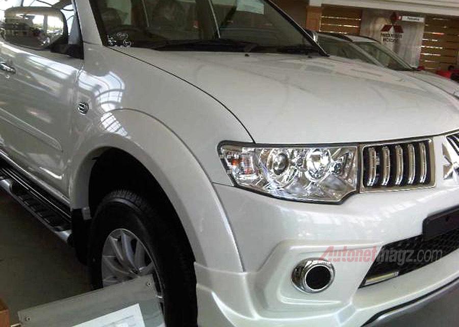 Mitsubishi Pajero Sport facelift Indonesia spyshot front fender