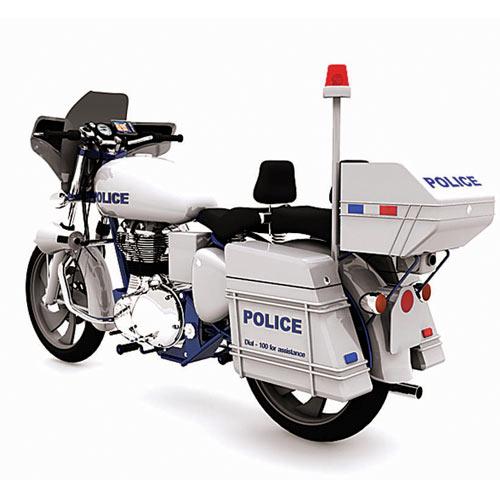 Mumbai police patrolling bike illustration