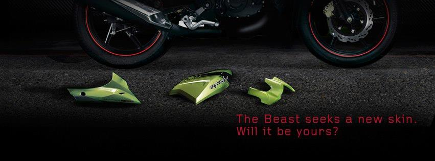 New TVS Apache teaser body panels