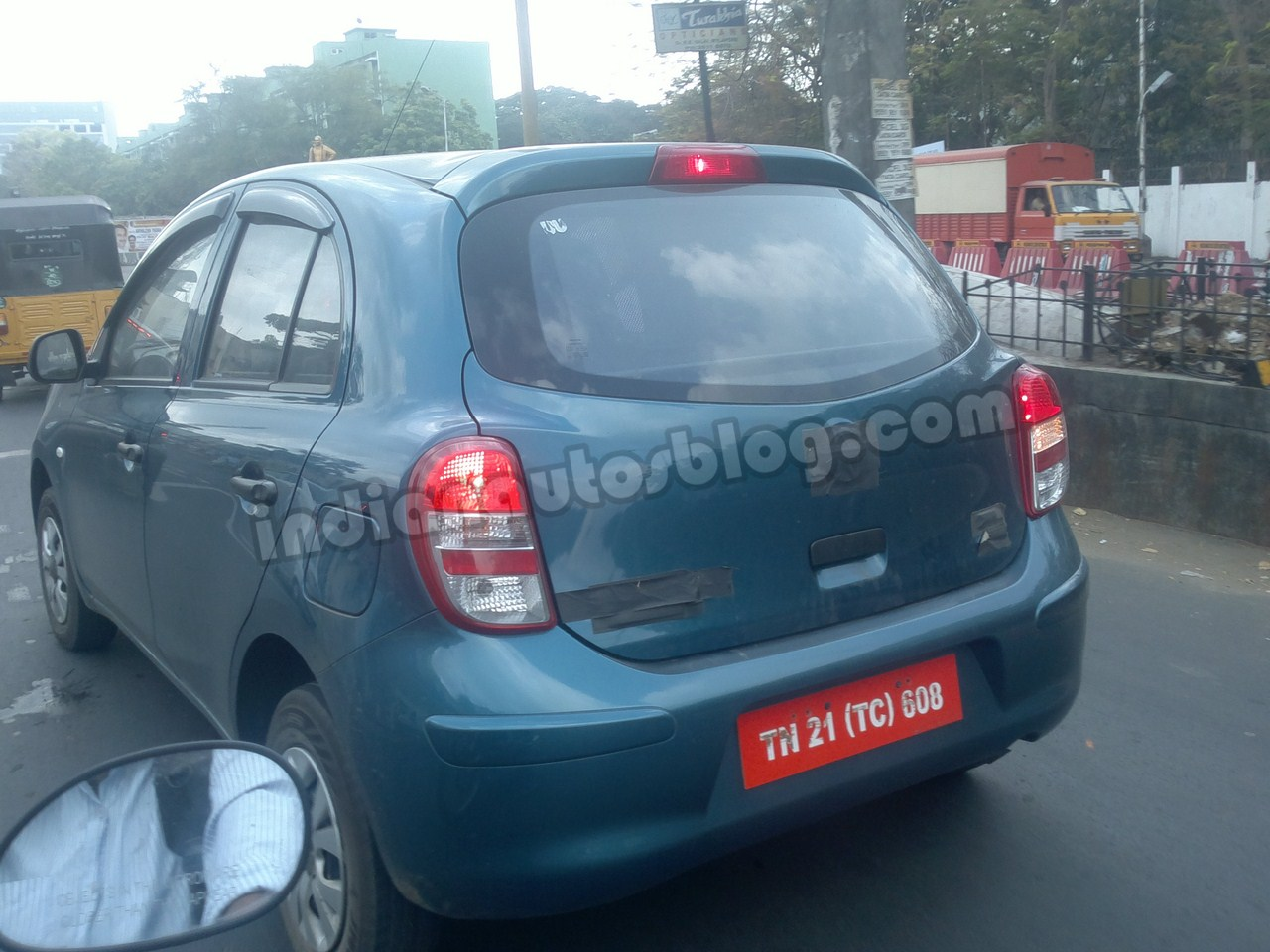 Nissan Micra low cost spied Chennai rear
