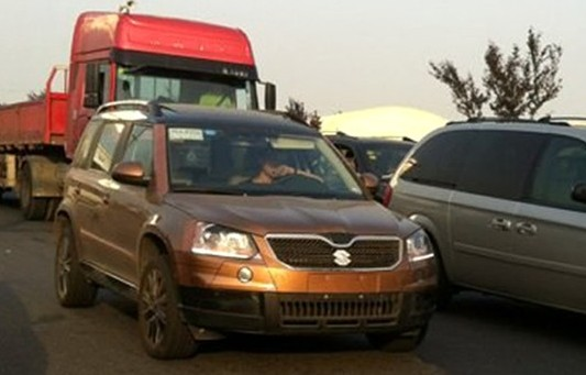 Skoda Yeti facelift spied in China front