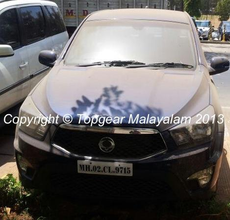 Ssangyong Actyon pickup spied in India front