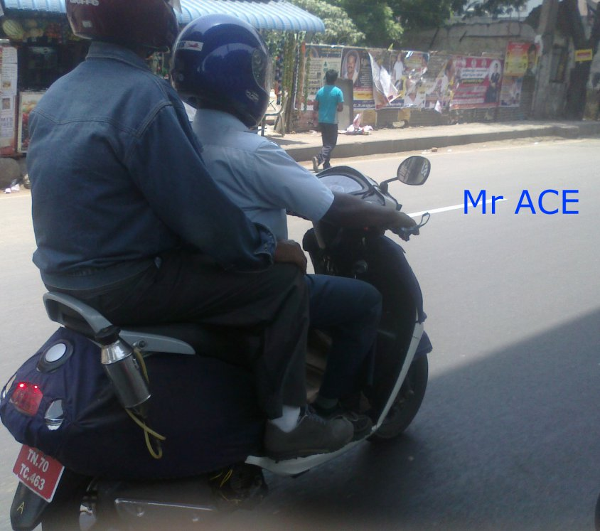 TVS new scooter spied in Chennai side