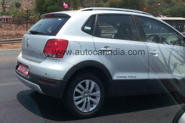 VW Cross Polo testing in India
