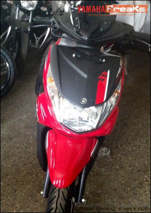 Yamaha Ray Z spied red black front