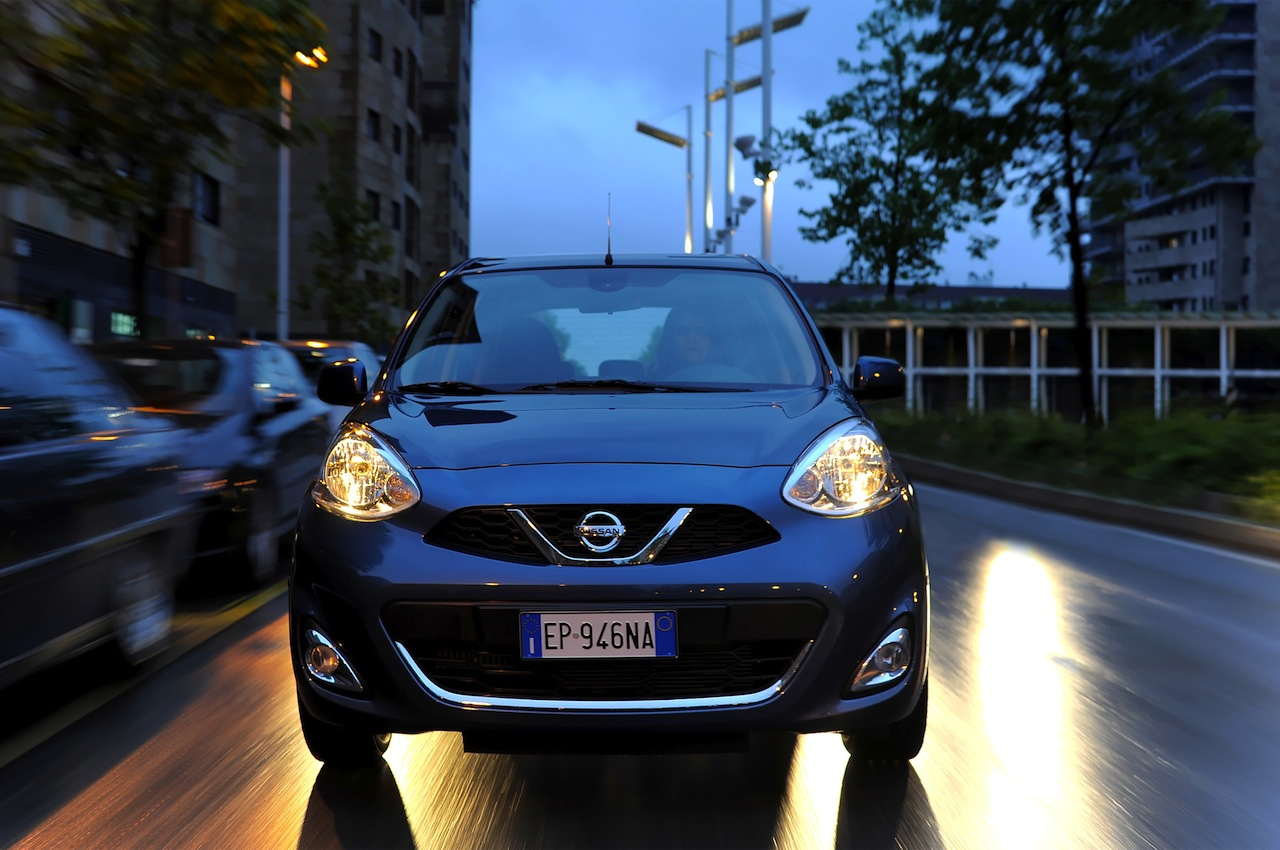 2013 Nissan Micra facelift head on view