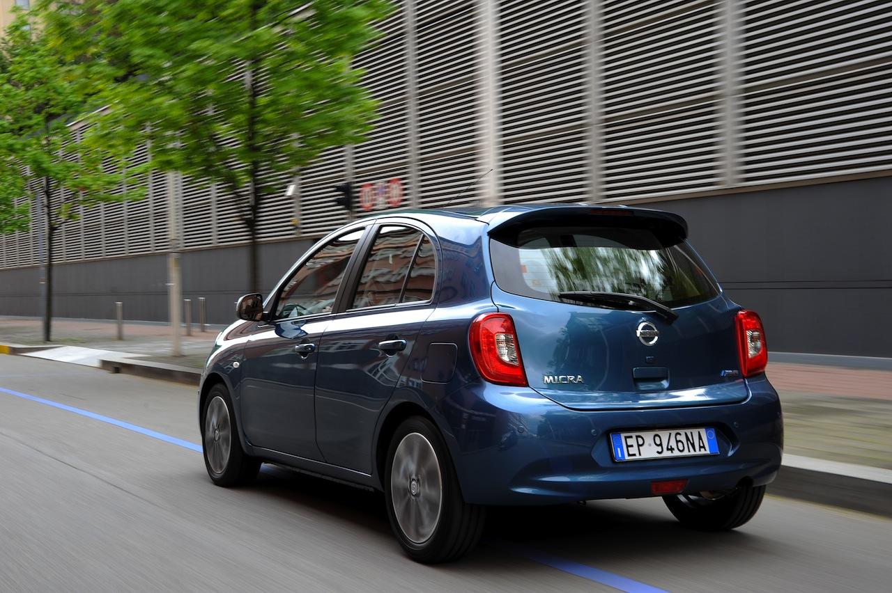 2013 Nissan Micra facelift rear three quarter