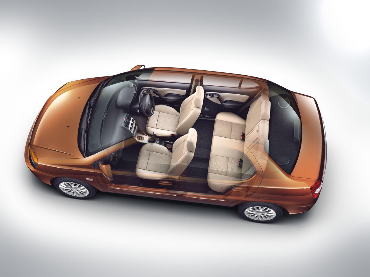 2013 Tata Indigo eCS seating