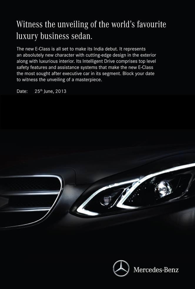 2014 Mercedes Benz E Class invitation