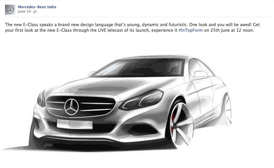 2014 Mercedes E Class sketch