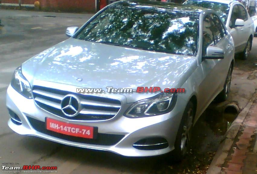 2014 Mercedes E Class spied in India