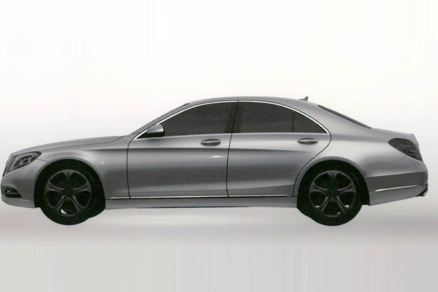 2014 Mercedes S Class S500 Hybrid Plus left side
