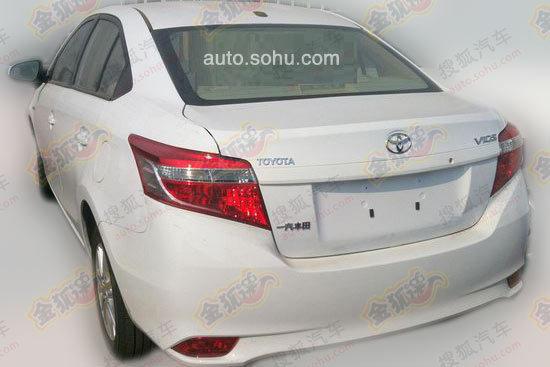 2014 Toyota Vios rear fascia