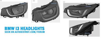 BMW i3 headlight patent leaks