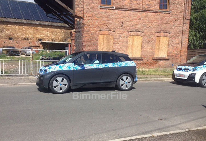 bmw i3 production version spied gray color. Black Bedroom Furniture Sets. Home Design Ideas