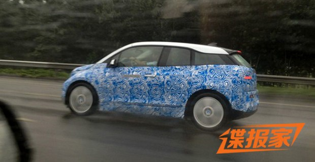 BMW i3 side spied in China