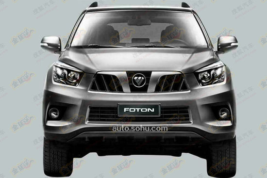 Front of the Foton Tunland SUV patent leaks