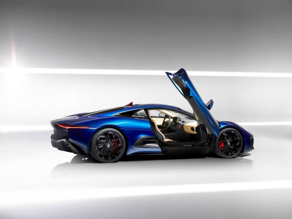 Jaguar C-X75 doors open