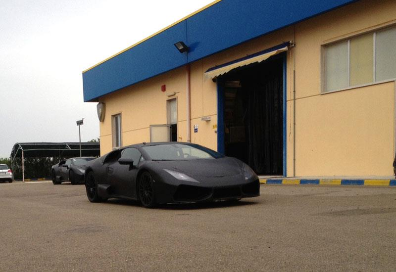 Lamborghini Gallardo successor Cabrera spied front