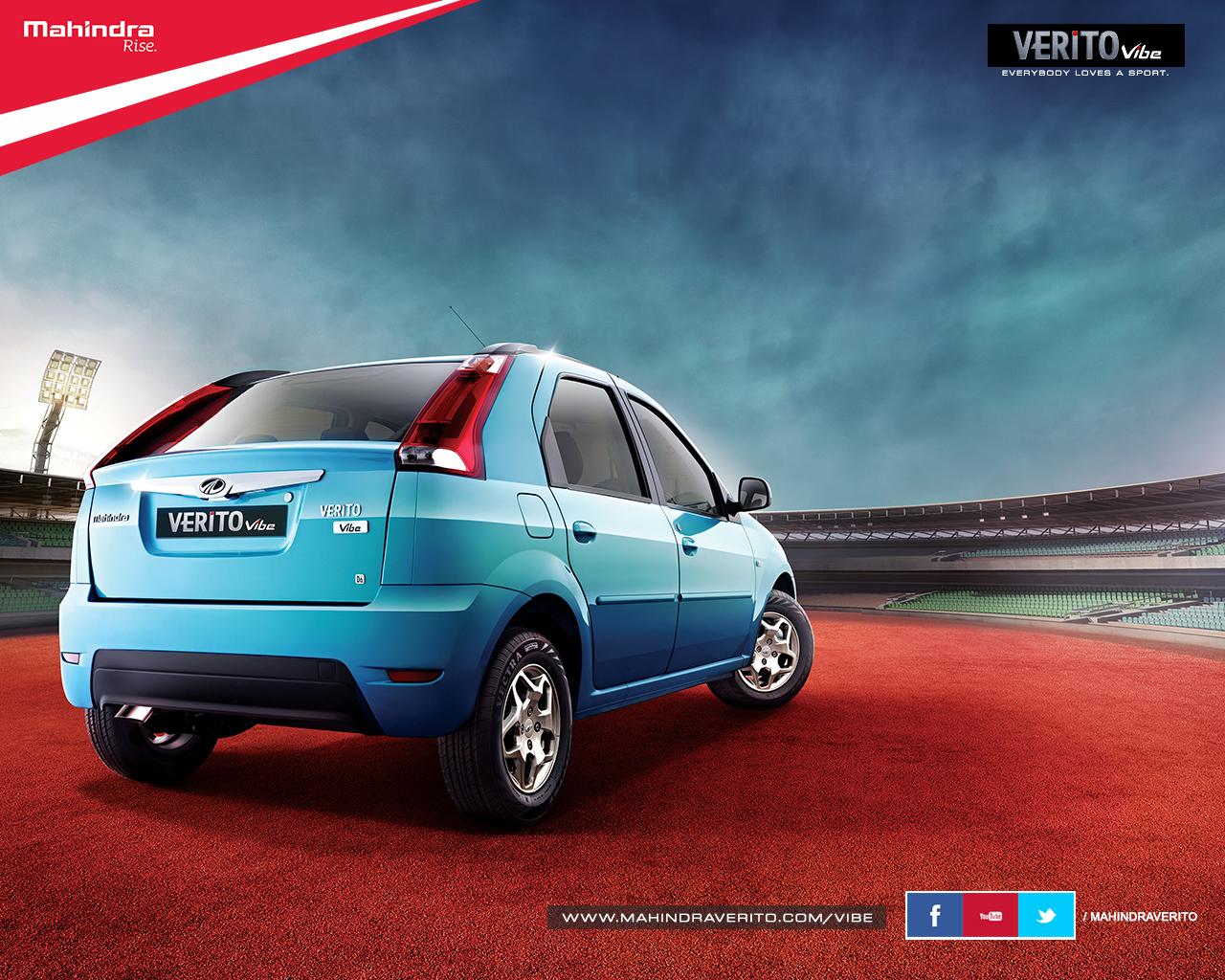 Mahindra Verito Vibe official image rear three quarters