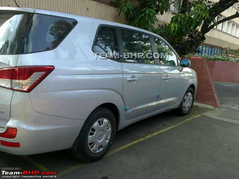 Ssangyong Rodius spied in India