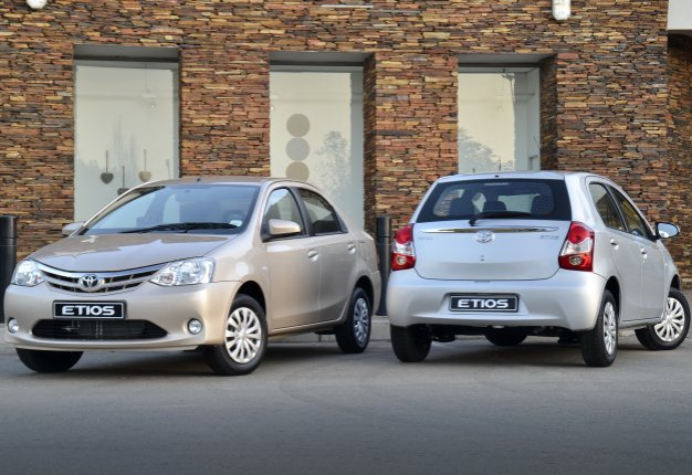 Updated Toyota Etios twins in South Africa