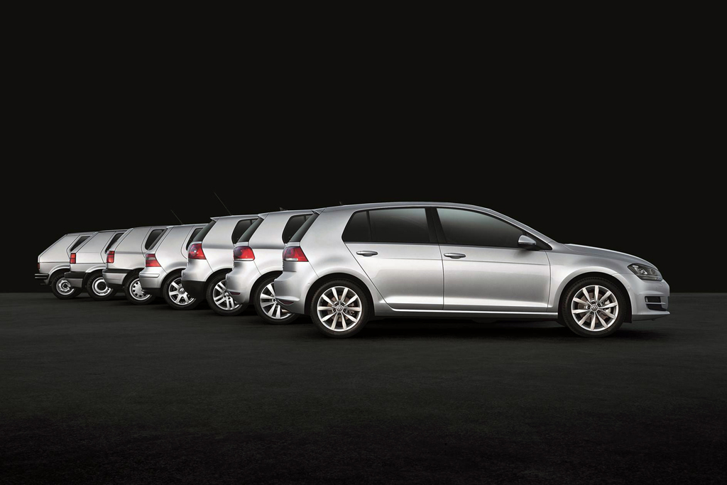 VW Golf seven generations