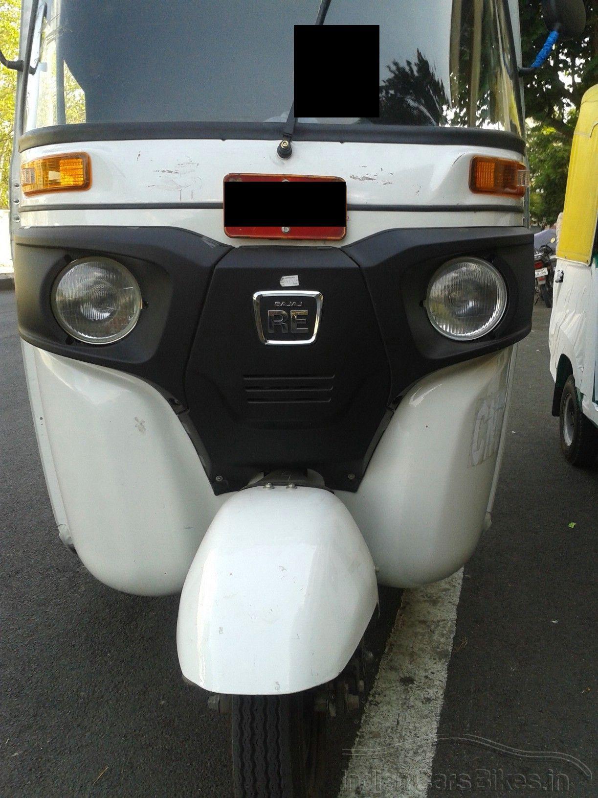 front fascia of the 2013 Bajaj RE three wheeler spied