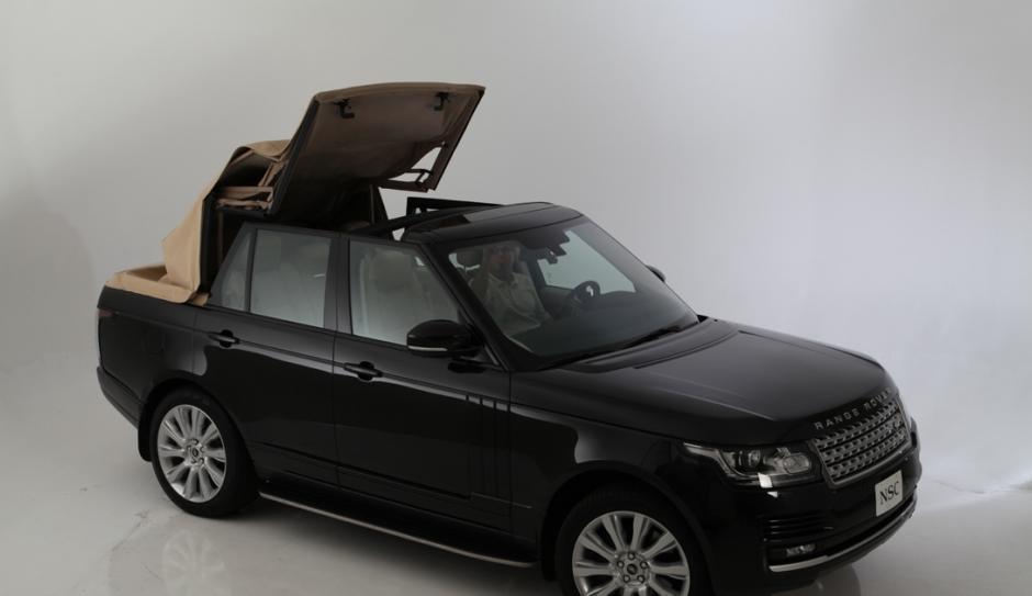 2013 Range Rover Newport Convertible roof opening