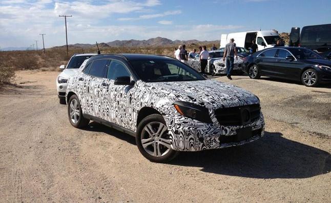 2014 Mercedes GLA spied with BMW X1