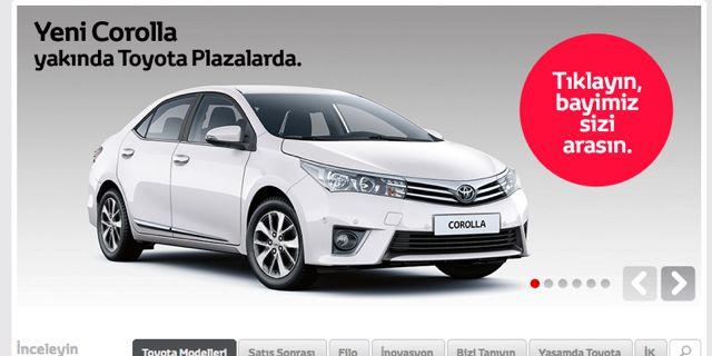 2014 Toyota Corolla on Turkish Toyota Website