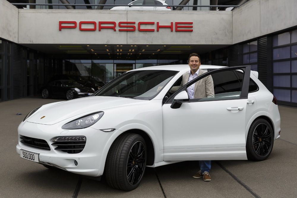 500000 Porsche Cayenne made in Leipzig