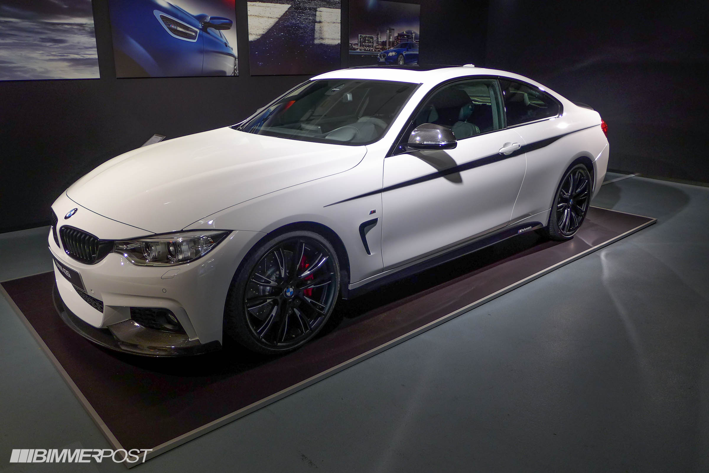 BMW 4 Series M Performance Parts front three quarter