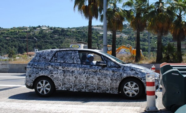 BMW Active Tourer Spied in France side