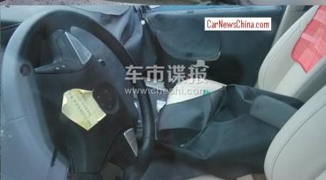Daimler-BYD Denza EV spied in China - interior
